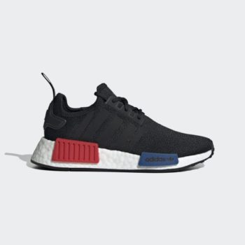 GS adidas NMD R1 Refined 'Core Black / Red / Blue' $67.20 Free Shipping