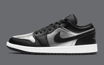 """Now Available: Air Jordan 1 Low (W) """"Black Silver"""""""