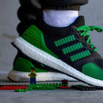 """Now Available: LEGO x adidas UltraBOOST DNA """"Black Green"""""""