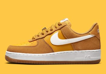 """Now Available: Nike Air Force 1 Low (W) """"Gold Suede"""""""