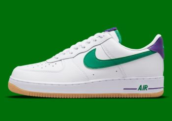 """Now Available: Nike Air Force 1 Low """"White Green Purple"""""""