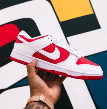 """Now Available: Nike Dunk Low """"Championship Red"""""""