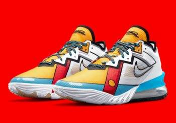 """Now Available: Nike LeBron 18 Low """"Stewie Griffin'"""
