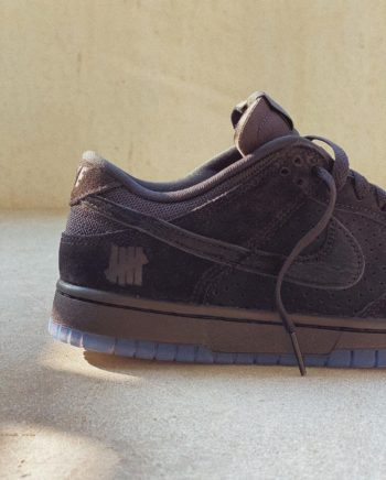 """Now Available: Undefeated x Nike Dunk Low """"Black"""""""