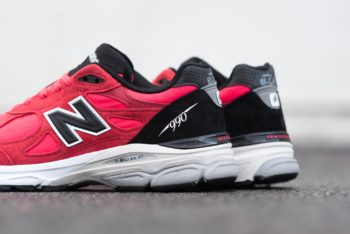 """New Balance 990v5 """"Red Black"""": Sale Price: $140 (Retail $175)  – FREE SHIPPING – use code:  – TEAM20 –  at checkout"""