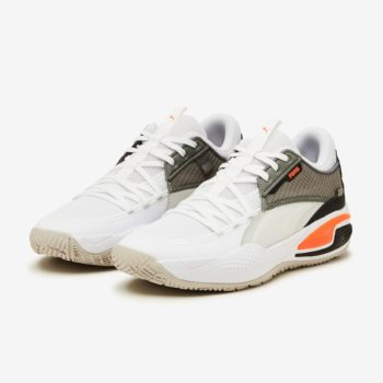 """Puma Court Rider """"White Orange"""": Sale Price: $27.50 (Retail $110)  – free shipping on orders $29.99+  – use code;  – 50PUMA –  at checkout"""
