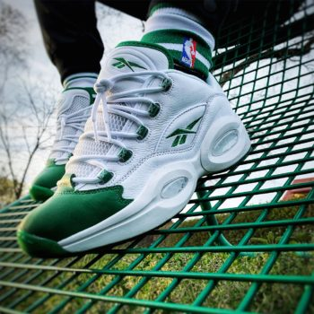 """Reebok Question Low """"Green Toe"""": Sale Price: $79 (Retail $120)  – FREE SHIPPING – use code:  – TAKE40 –  at checkout"""