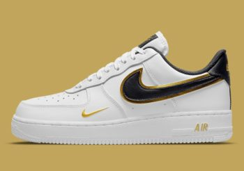 """Restock: Nike Air Force 1 Low Double Swoosh """"White Gold"""""""